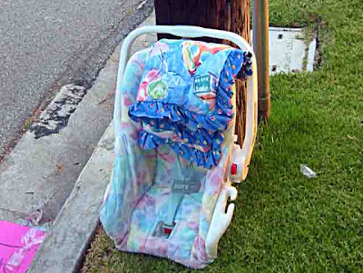 2 Baby Car Seat abandoned on a street in Pasadena CA
