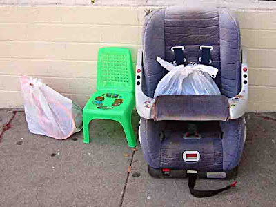 3 Baby Car Seat abandoned on a street in Pasadena CA