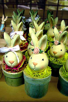 Fecund Potted Bunnies for sale somewhere, reminds me of Alice in Wonderland