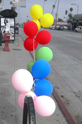 Balloons and a Bus Stop - Colorado Blvd Pasadena CA