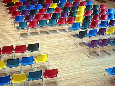 chairs in Disney Hall's BP Hall
