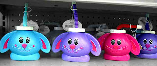 colored Bunny sippy cups