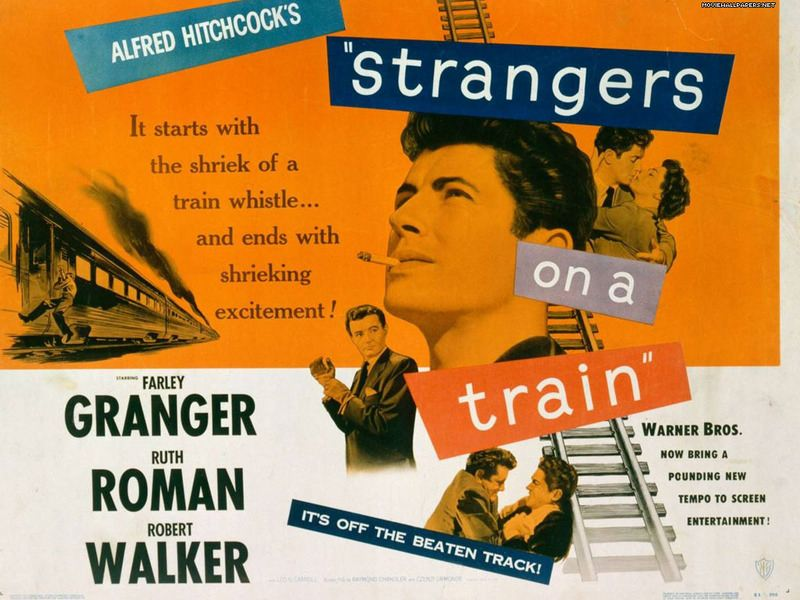Poster for Hitchcock Film Strangers on a Train