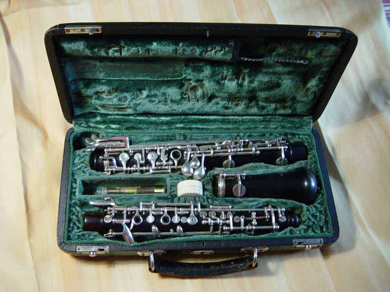 an oboe in pieces
