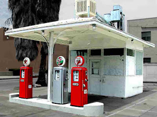 Three old gas pumps - Pasadena CA (c) David Ocker