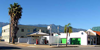 Old gas station panorama shot Pasadena CA - (c)David Ocker
