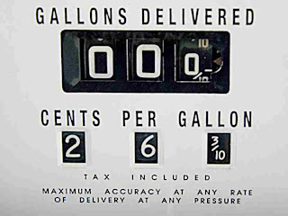 The price of gas long ago Pasadena CA (c) David Ocker