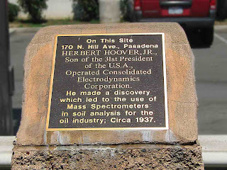 Herbert Hoover Jr plaque at Tommy's Burgers Pasadena CA