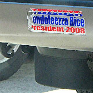 Condoleezza Rice for President Bumper Sticker