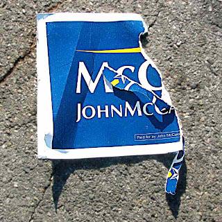 Torn McCain Yard Sign