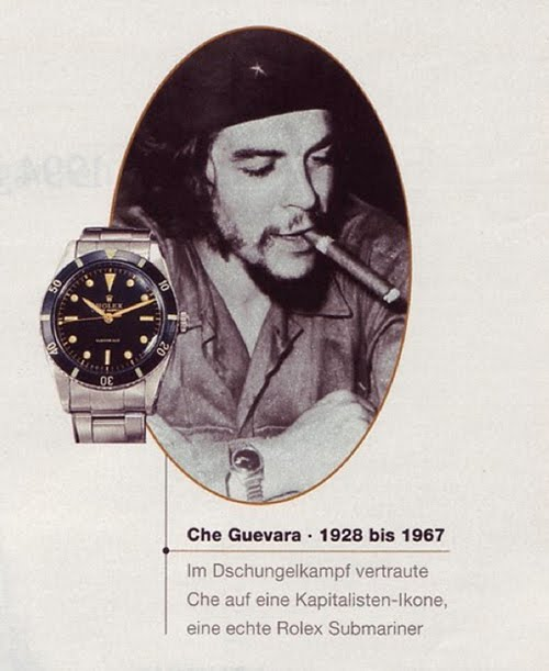 Che Guevara Rolex Submariner ad