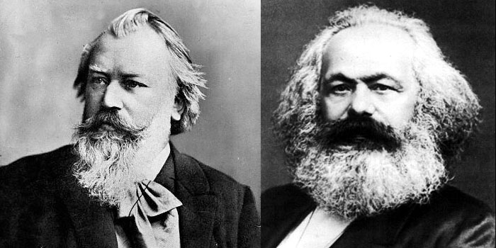Johannes Brahsm and Karl Marx, together again