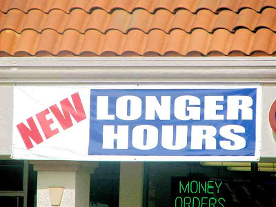 New Longer Hours - Slave to Time Is Money