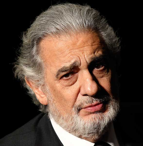 Placido Domingo looking sad