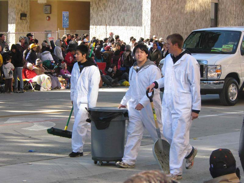 Rose Parade 2011 - equestrian manure cleanup engineers