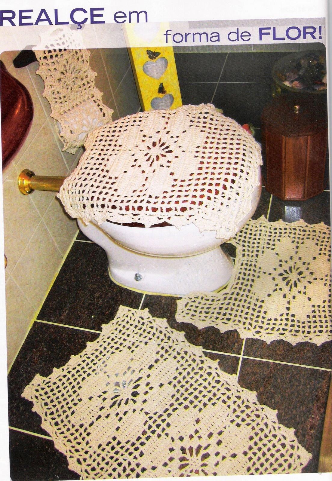 Juegos De Baño Sencillos:Juegos De Banos Tejidos En Crochet