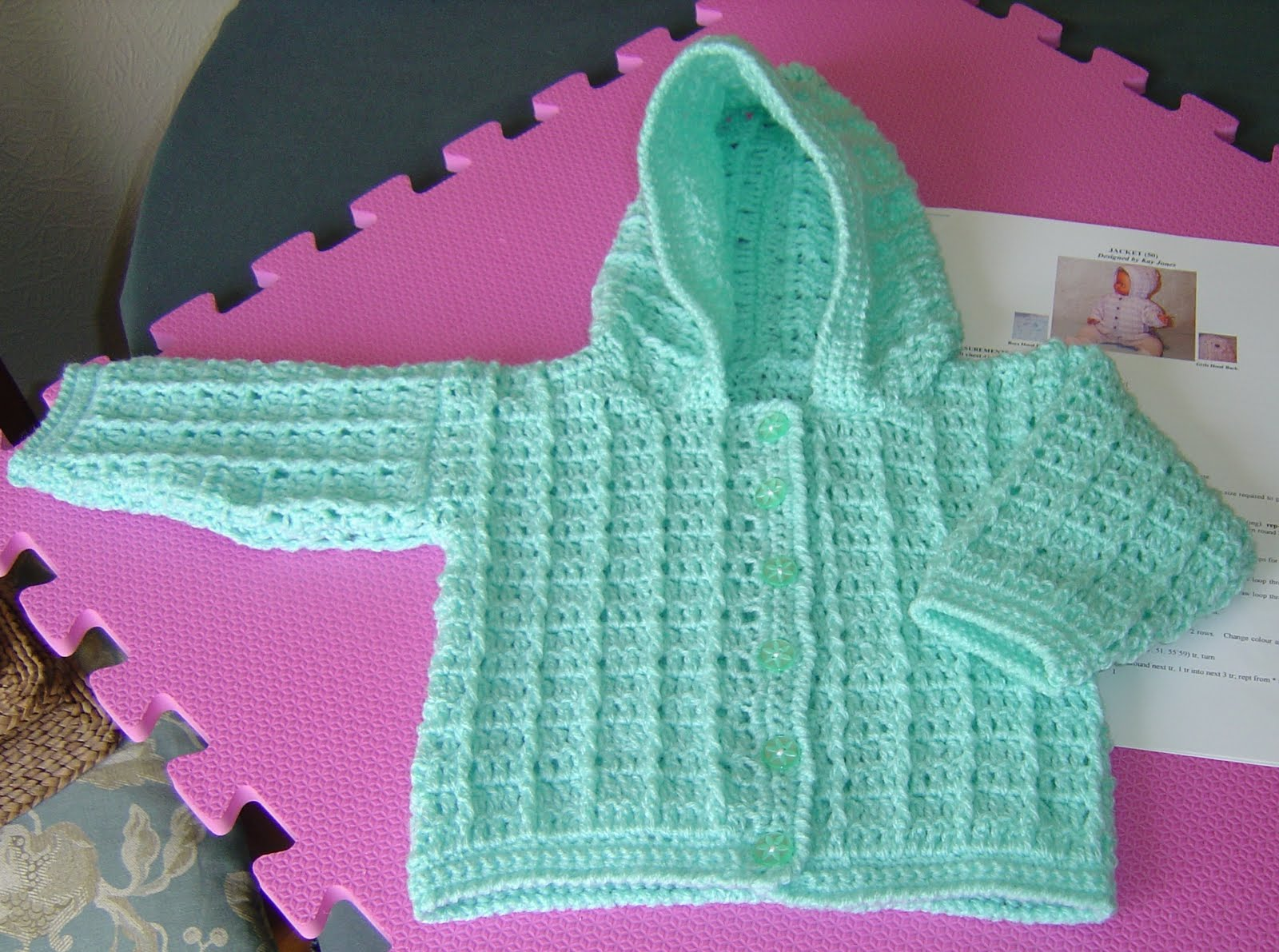 Crochet Baby Jacket Pattern : Crochet Baby Jacket Pattern ? Images of Patterns