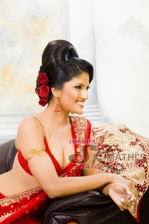 lankan hot and sexy Sri saree