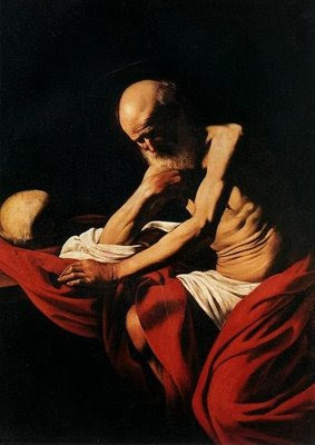 caravaggio san jeronimo penitente pintura