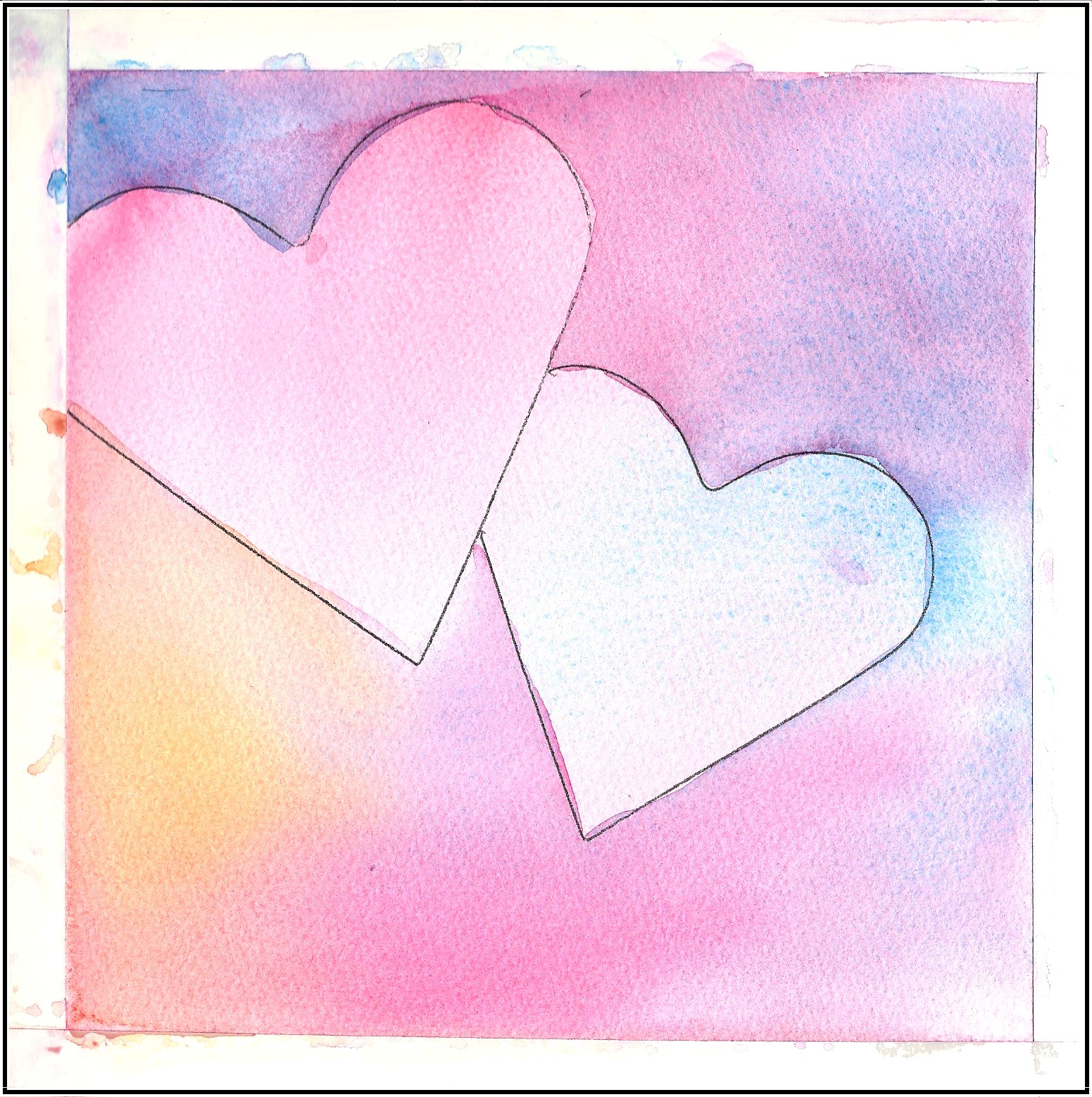 Art in my heart jacqueline newbold give your loved ones for Easy watercolor for beginners