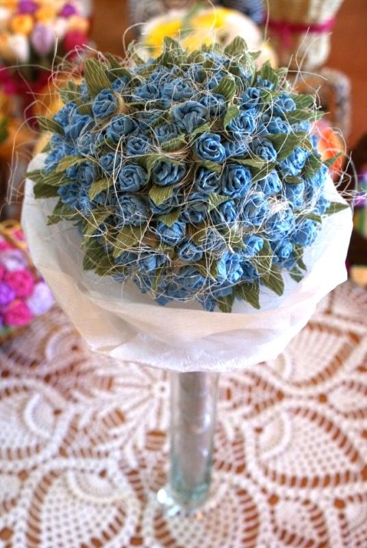 Kwiaty Z Krepiny