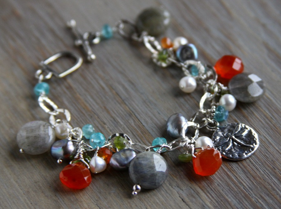 Kim voigt jewelry i love working with sterling silver gold semi precious stones and sea glass i believe one piece is never enough its all about layering for me solutioingenieria Images