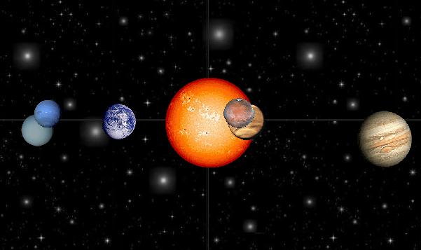 modelo del sistema solar