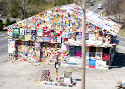 A Gas Station Wrapped in Weavings Mergings of Arts and Activism