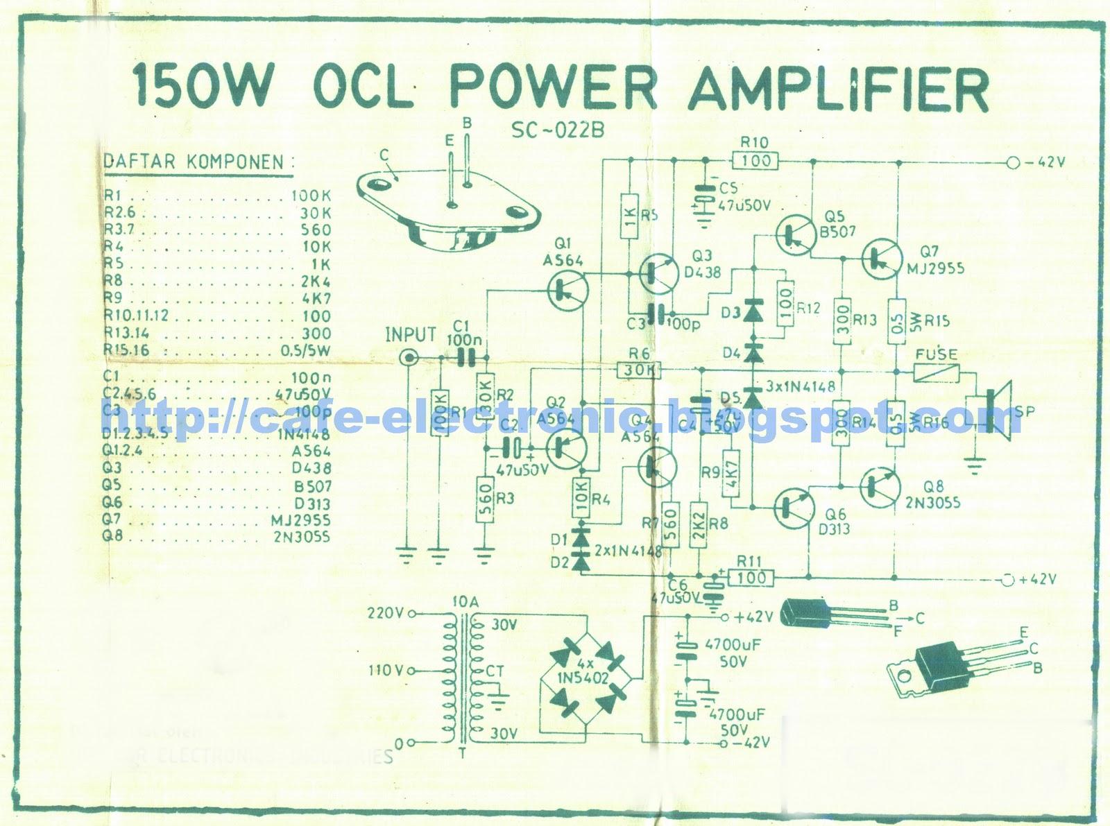 150watt OCL Power Amplifier
