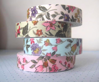 image floral fabric tape set by percival road designs on etsy