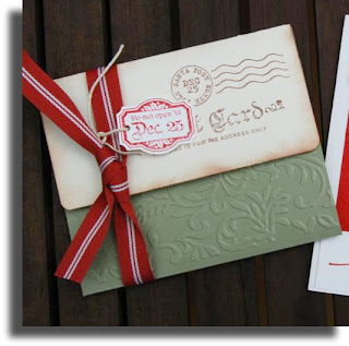 christmas card embossed secret newcreationz
