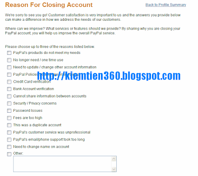 Hướng dẫn xóa tài khoản paypal