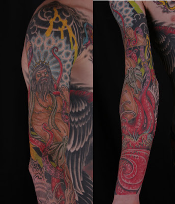 Nicholas Stegall: Poseidon and Dragon Tattoos