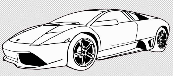 cars coloring lamborghini drawing lambo pictures - Lamborghini Black And White Drawing