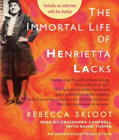 [NEWS] The Immortal Life of Henrietta Lacks by Rebecca