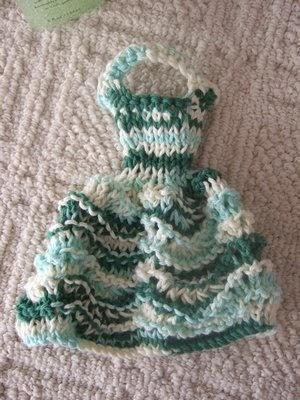 Dress Dishcloth 4 Smariek Knits