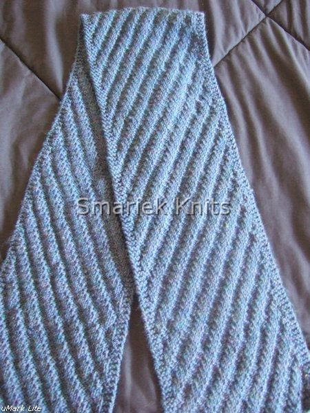 Diagonal Knit Scarf Pattern : Two Diagonal Scarves - Flora ~ smariek knits