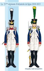 Soldats du 21e régiment de ligne