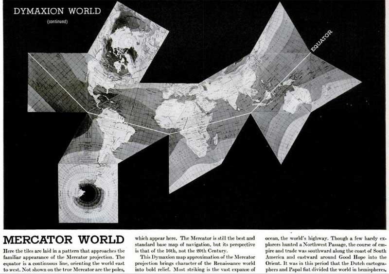 Arqueologa del futuro 194x 1954 dymaxion map buckminster fuller life gumiabroncs Choice Image