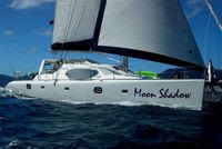 Charter catamaran MOON SHADOW for the holidays with Paradise Connections Yacht Charters