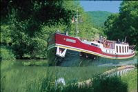 French Hotel Barge Alouette in Burgundy (Bourgogne France) Contact ParadiseConnections.com for booking.