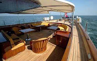 Charter Yacht Andromeda La Dea in the Mediterranean this summer 2009 - View of Aft Deck - Contact ParadiseConnections.com