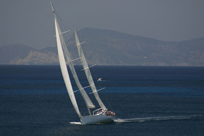 Charter the maxi FORTUNA for racing in Antigua Sailing Week - Contact ParadiseConnections.com