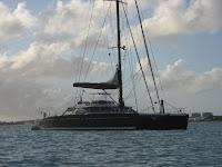 Catamaran Wonderful in Simpson Bay St Maarten (Photo ©2009 - Paradise Connections)