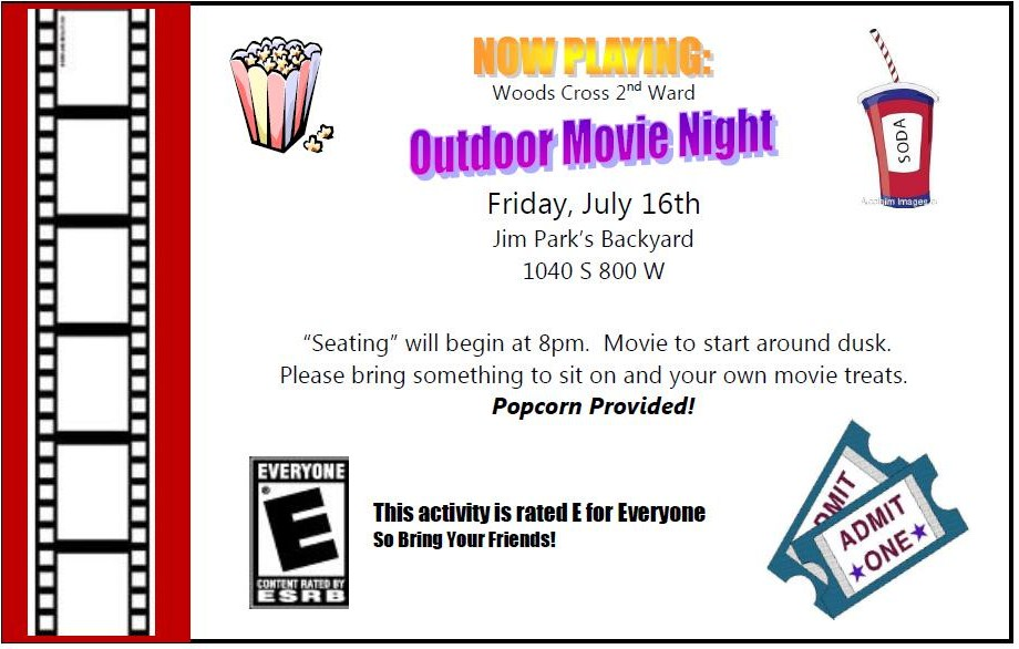 WARD ACTIVITY IDEAS: Outdoor Movie Night