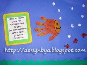 ... Calendar Handprint, Fish Handprints, Handprint Calendar Poems, Craft