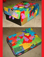 Fun Decoupage Shoe Box Storage Craft for Kids