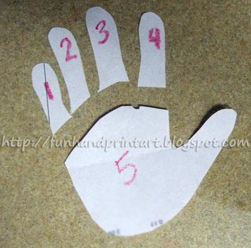handprint template. Black Bedroom Furniture Sets. Home Design Ideas