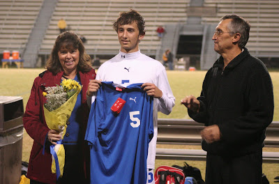 Luke Tompkins with parents Dorene and Ralph Tompkins