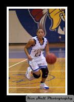 Kima Sidberry drives to the basket